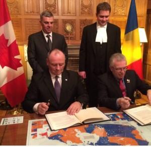 , Declaraţia comună în vederea consolidării relaţiilor dintre Parlamentul Canadei şi Parlamentul României