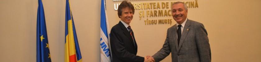 Consulul Germaniei la Sibiu, în vizită la UMF Târgu Mureș